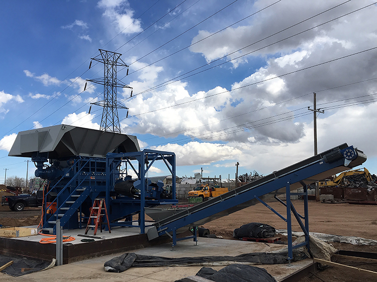 Super Chopper installed at CIR's cable recycling plant