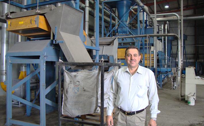 Tariq Al Mansori (General Manager at Sharjah National Crumb Rubber Industries). Eldan Recycling