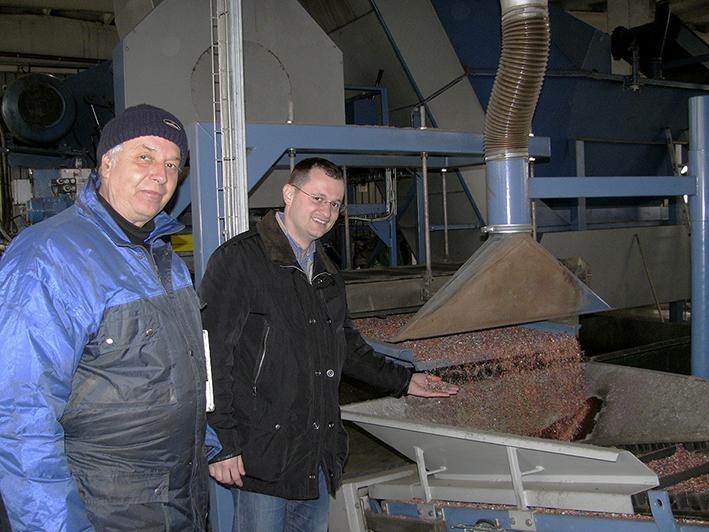 Ovidiu Ariton (Eldan Line Manager) and Cristian Drăghici (General Manager). Eldan Recycling.