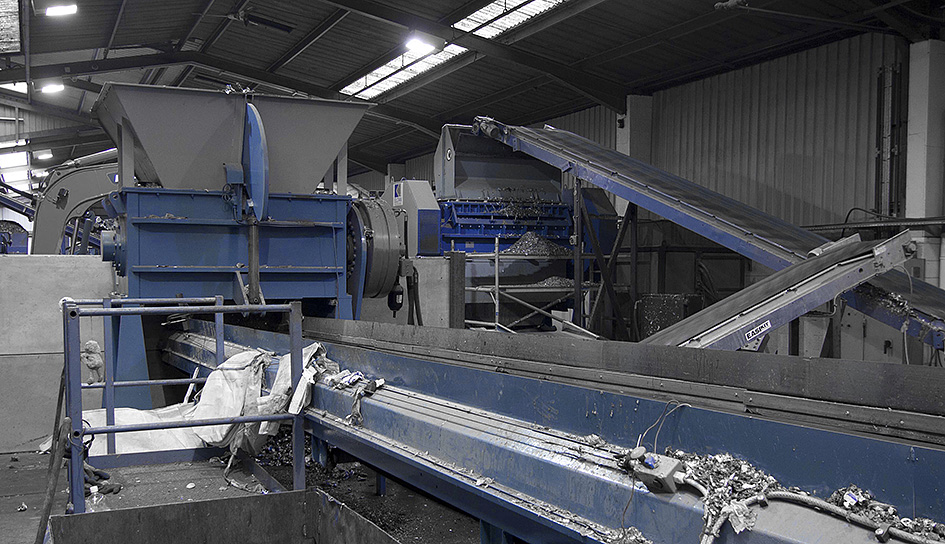 Aluminium recycling plant for UBC recycling (used beverage can) and aluminium profiles