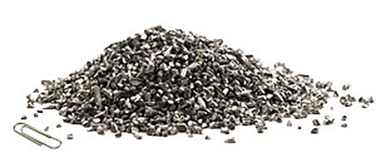 Aluminium granules from cable recycling