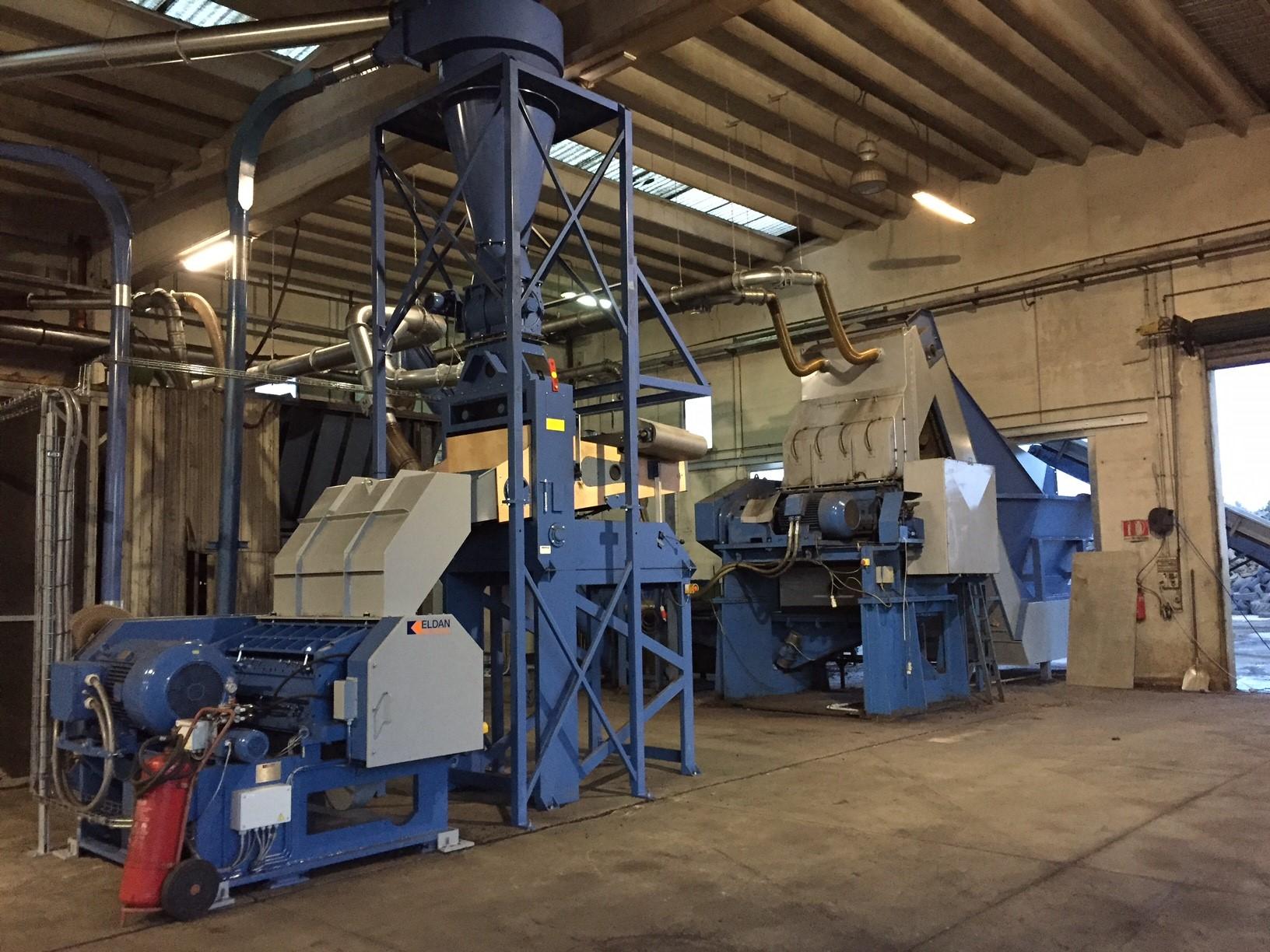 Eldan Recycling, tyre recycling, Italy, GATIM