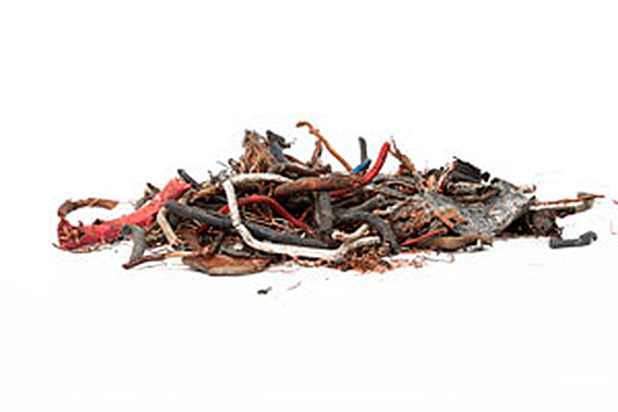 Recycled metal from SLF (Shredder Light Fraction) / ASR (Automobile Shredder Residue) / auto fluff - a material derriving from ELV (End of Life Vehicles)