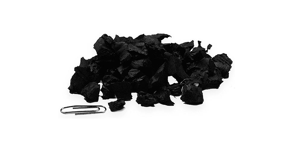 Recycled tyre into rubber chips/tyre chips