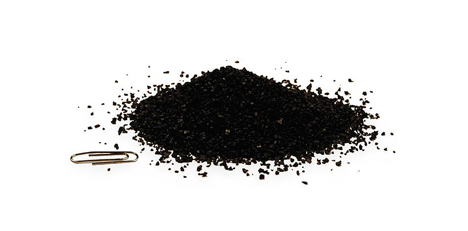 Recycled tyre into rubber granules